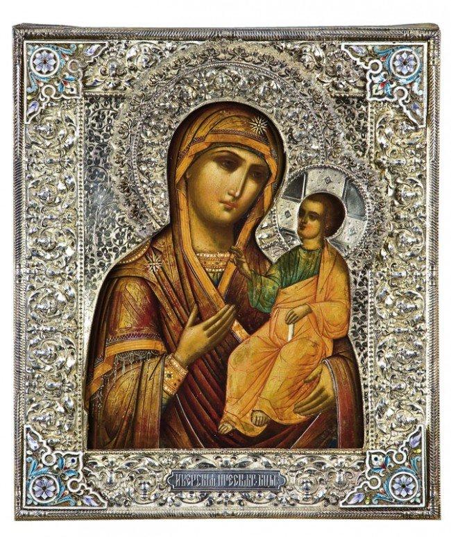 177: The Iverskaya Mother of God. Tempera on wood. Port