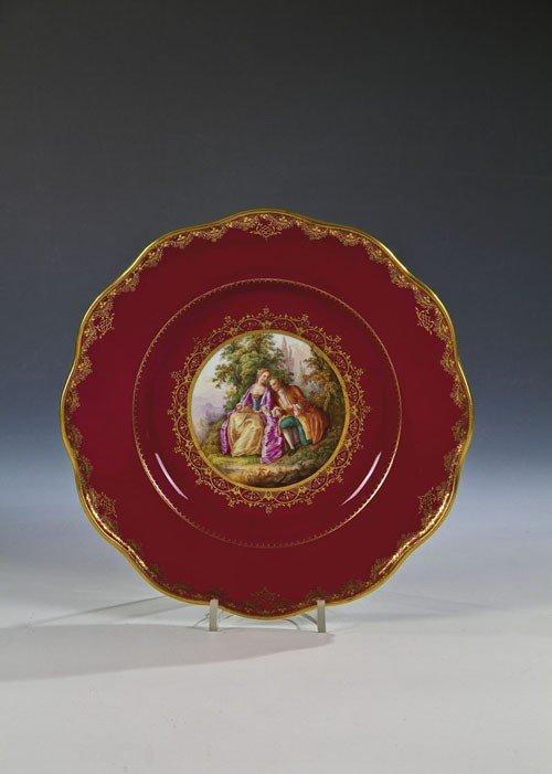 16: Teller mit Watteauszene