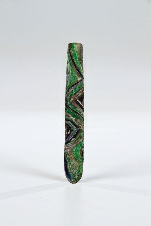 2: A rare gold-band mosaic glass alabastron Roman Empir