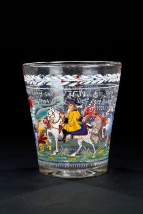 10: A beaker of the horse dealer J.C.M. Franconia, prob