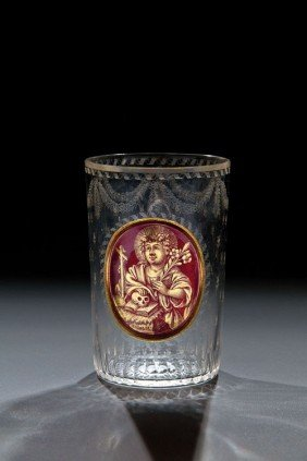 13: A Beaker with Saint Rosalia Johann Joseph Mildner,