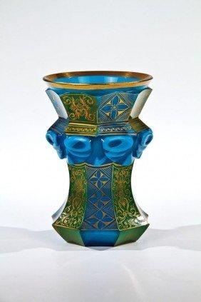 14: A rare agate stone glass beaker South Bohemia, Buqu