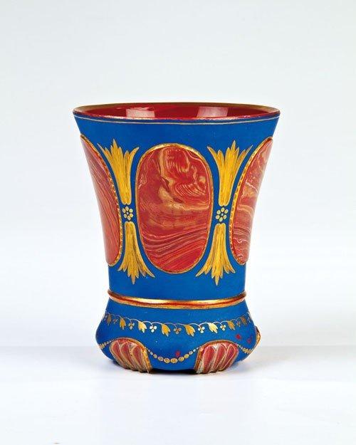"21: Stone glass ""Parisian Blue"" Friedrich Egermann, Blo"