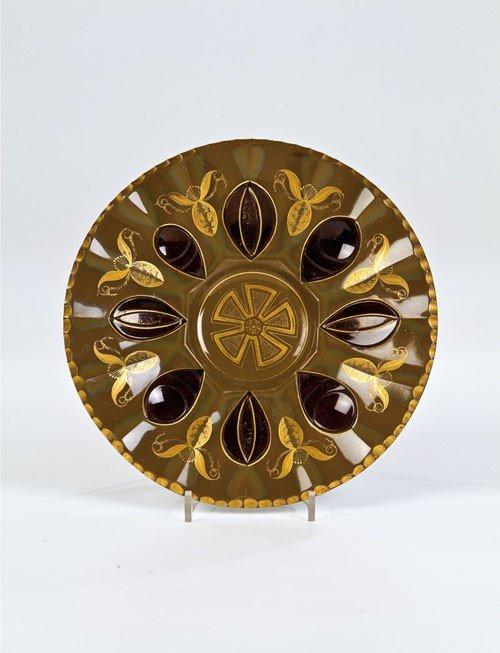 22: Very rare Plate of Stone-Glass South Bohemia, the B