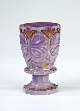 24: An agate stone glass goblet Buquoy'sche Hütten, Geo