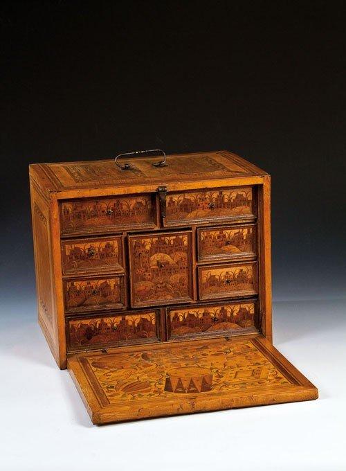 50: A Renaissance tabletop cabinet Augsburg, um 1580 Au