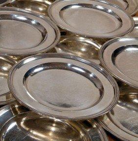 147: A set of 18 massive silver dinner-plates London, J