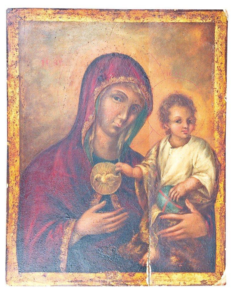 6: Große Ikone mit der Gottesmutter