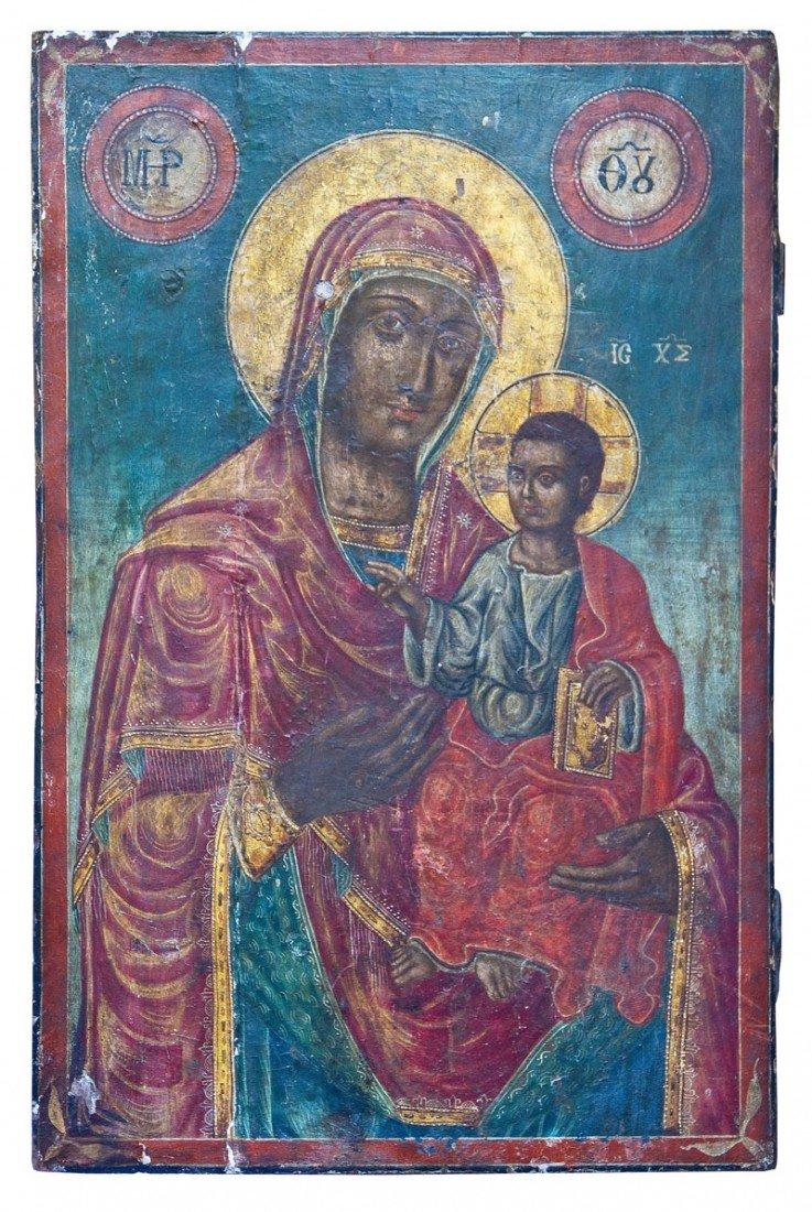 9: Große Ikone mit der Gottesmutter Hodegetria