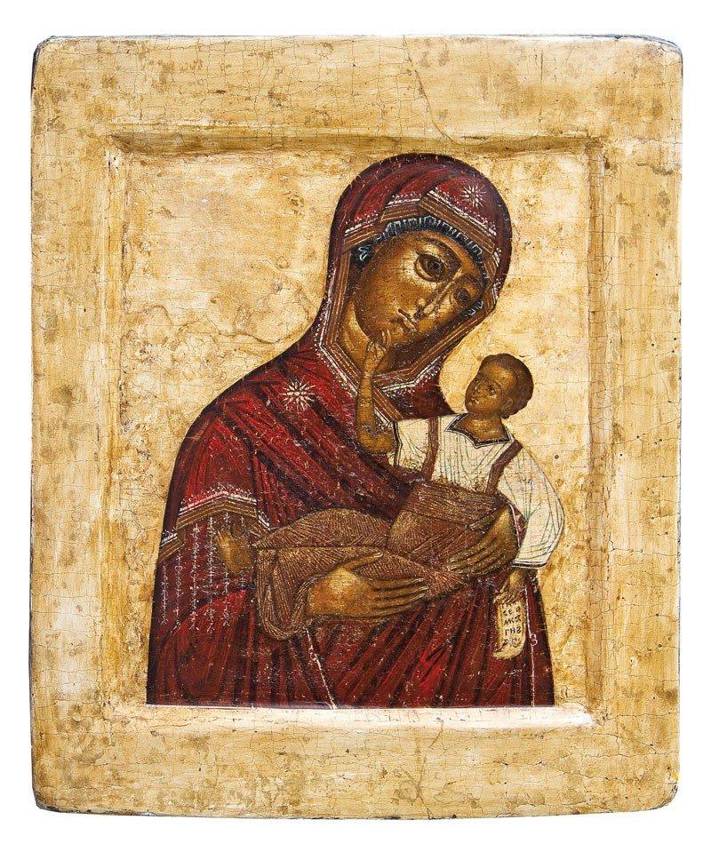 11: Seltene Ikone mit der Muttergottes Slowenskaja