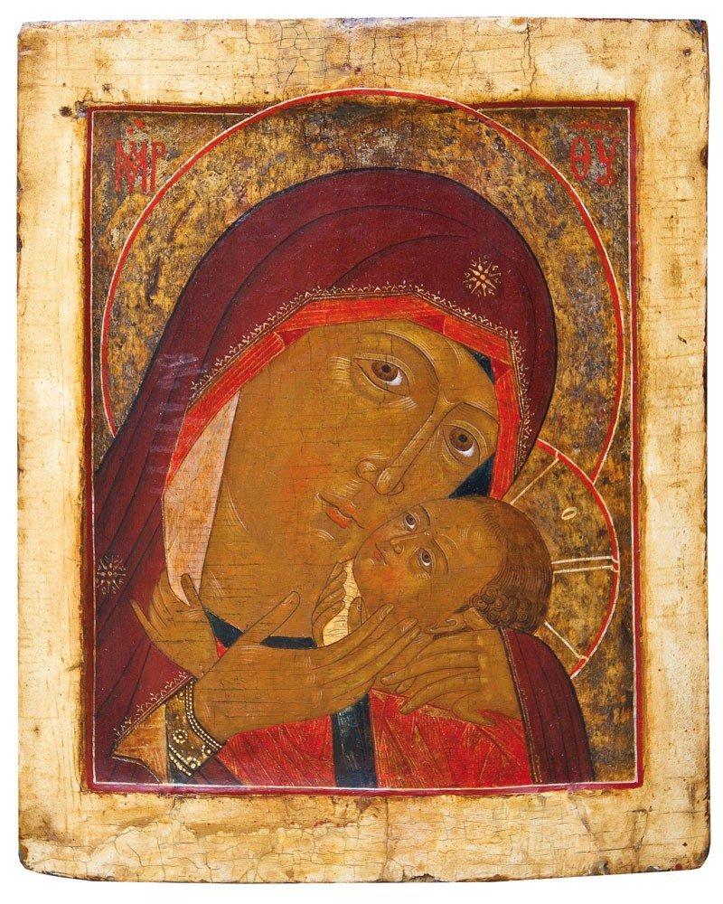 14: Feine Ikone mit der Gottesmutter von Cherson (Korsu