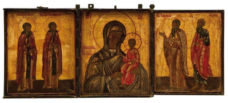 15: Triptychon mit der Gottesmutter Iwerskaja