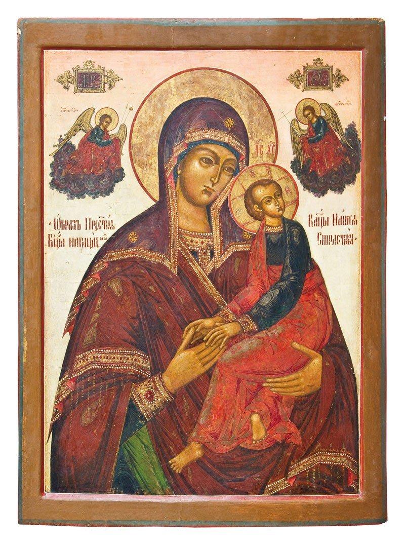 19: Monumentale Ikone mit der Gottesmutter der Passion