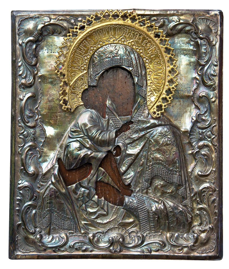 22: Gottesmutter vom Don (Donskaja) mit Silberoklad
