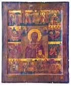 178: Große Vita-Ikone des heiligen Nikolaus dem Wundert