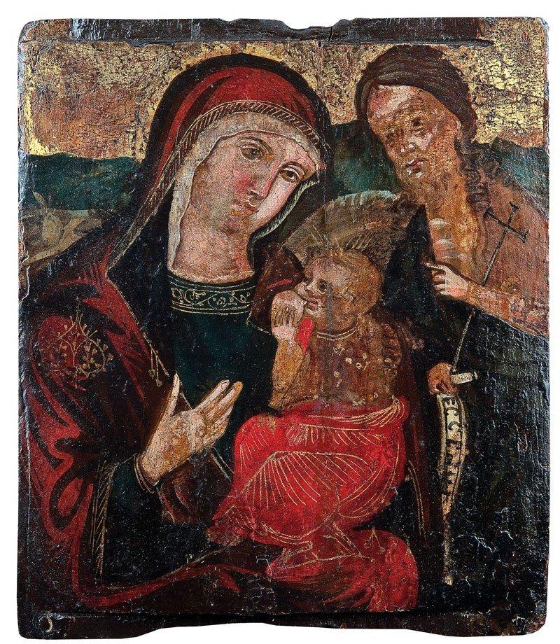 3: Gottesmutter Lactans und Johannes der Täufer
