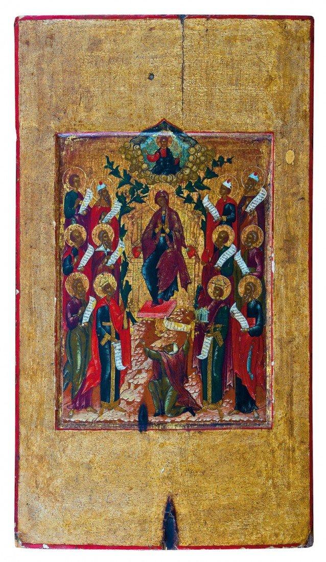 4: Feine Ikone mit der Gottesmutter ''die Propheten hab