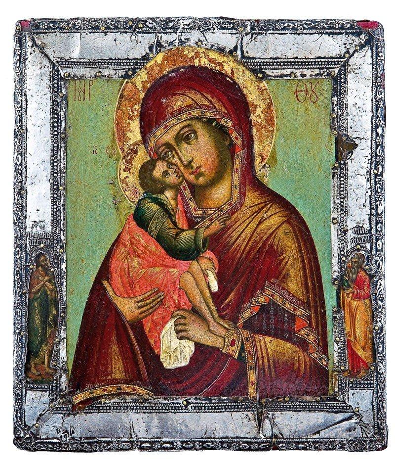 9: Sehr feine Ikone mit der Gottesmutter vom Don (Donsk