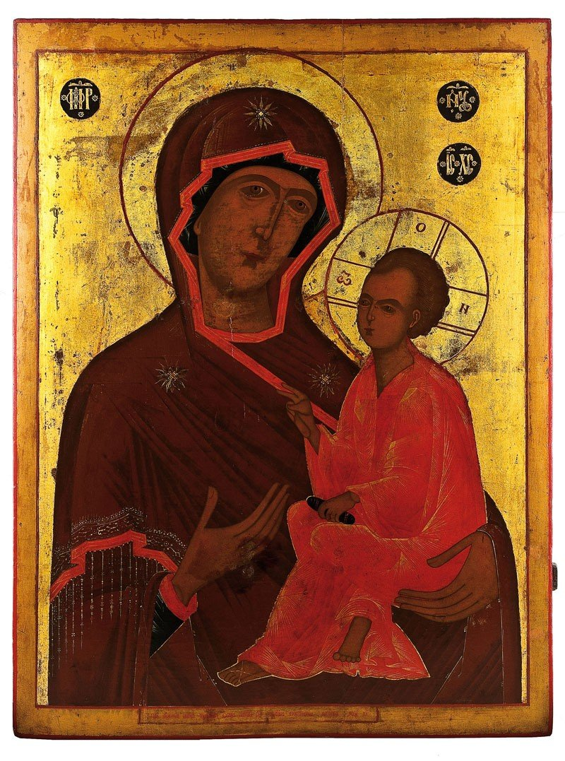 10: Monumentale Ikone mit der Gottesmutter Tichwinskaja