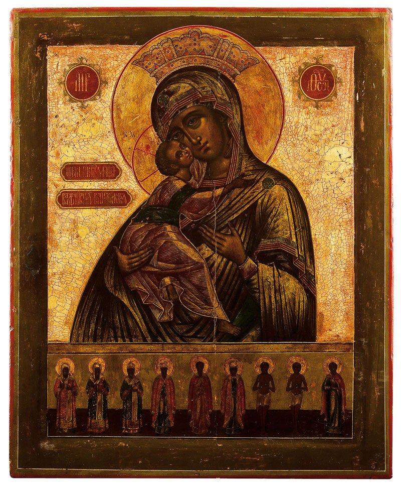 16: Große Ikone mit der Gottesmutter Wladimirskaja