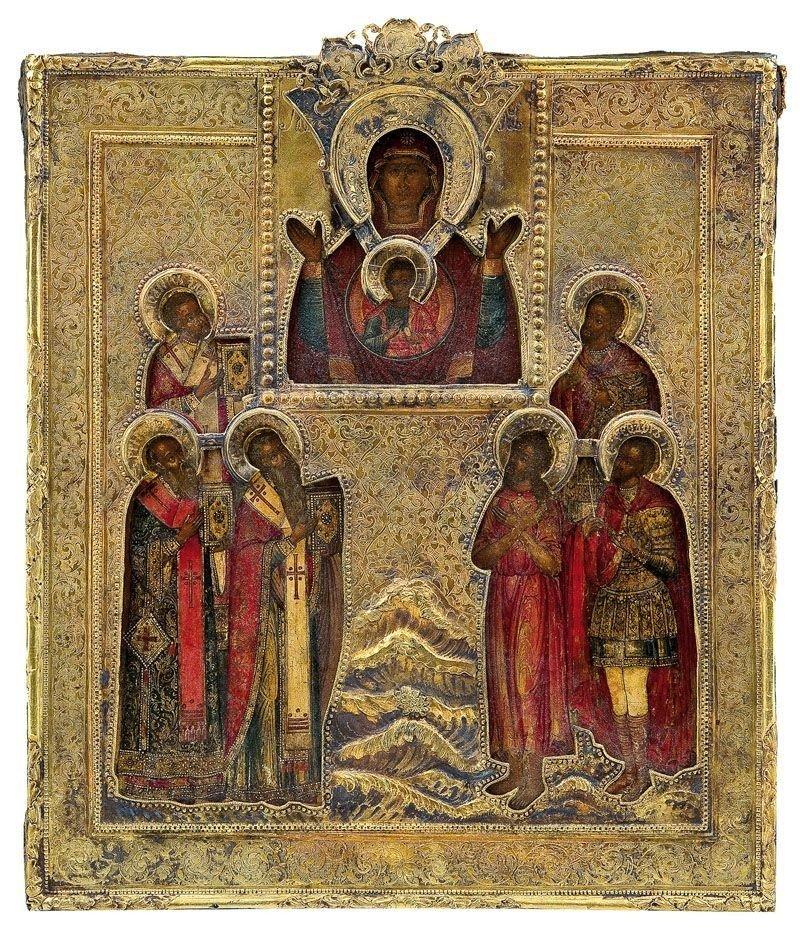 320A: Feine Patronatsikone mit der Gottesmutter des Zei