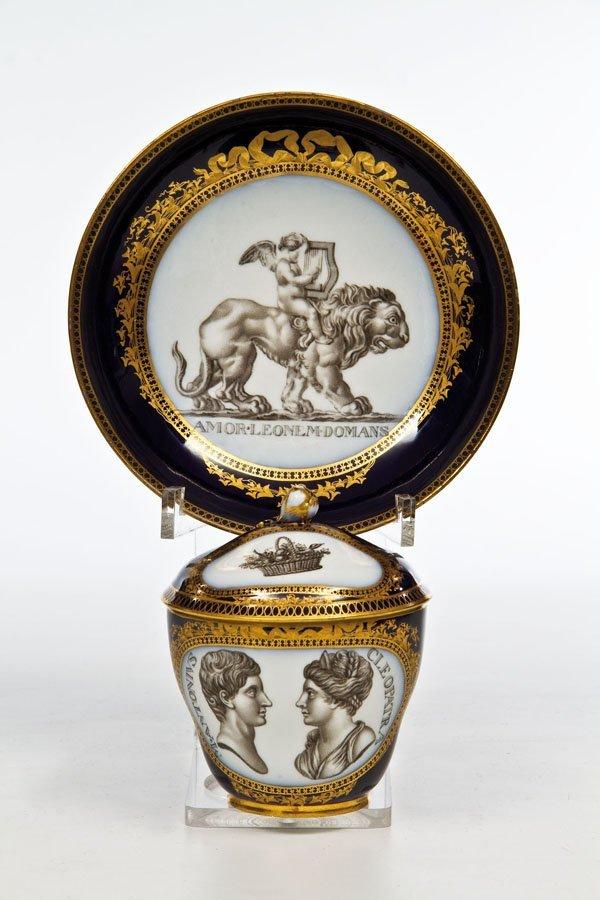 14: Porträt - Deckeltasse mit Untertasse ''M. Antonius