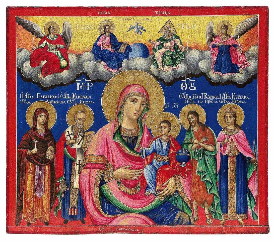 10: Große Ikone mit der Gottesmutter Hodegetria