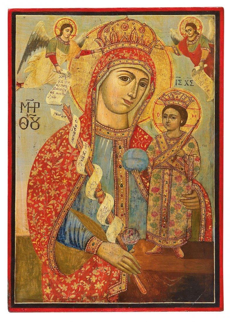 11: Große Ikone mit der Gottesmutter ''Nicht verwelkend