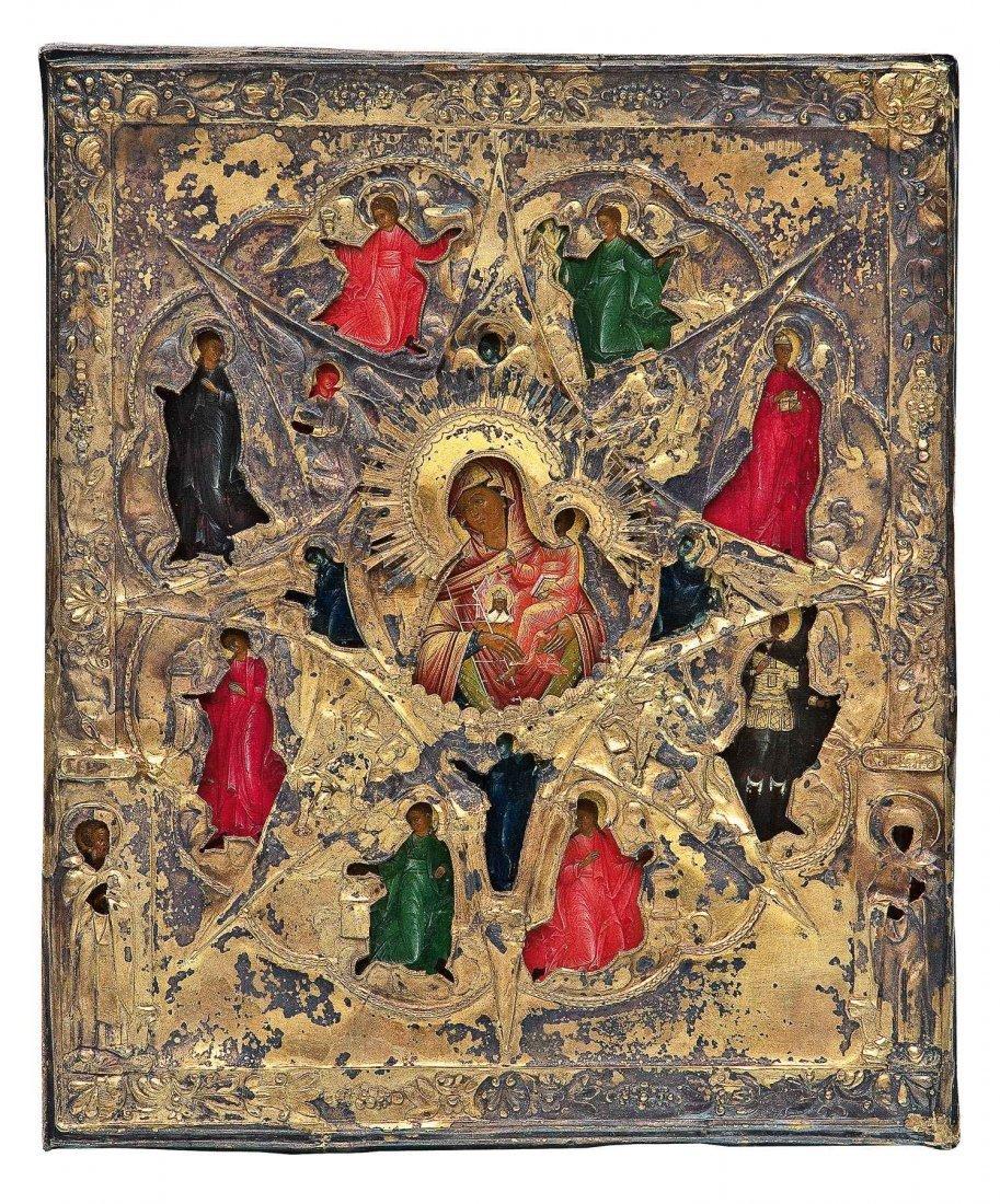 88: Feine Ikone mit der Gottesmutter Nichtverbrennender