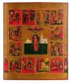 291: Große Vita-Ikone des heiligen Vonifatij von Tarsus