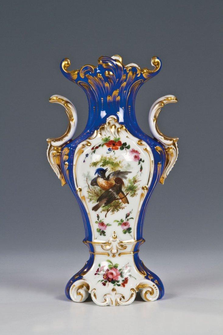 Vase mit Vogelmalerei