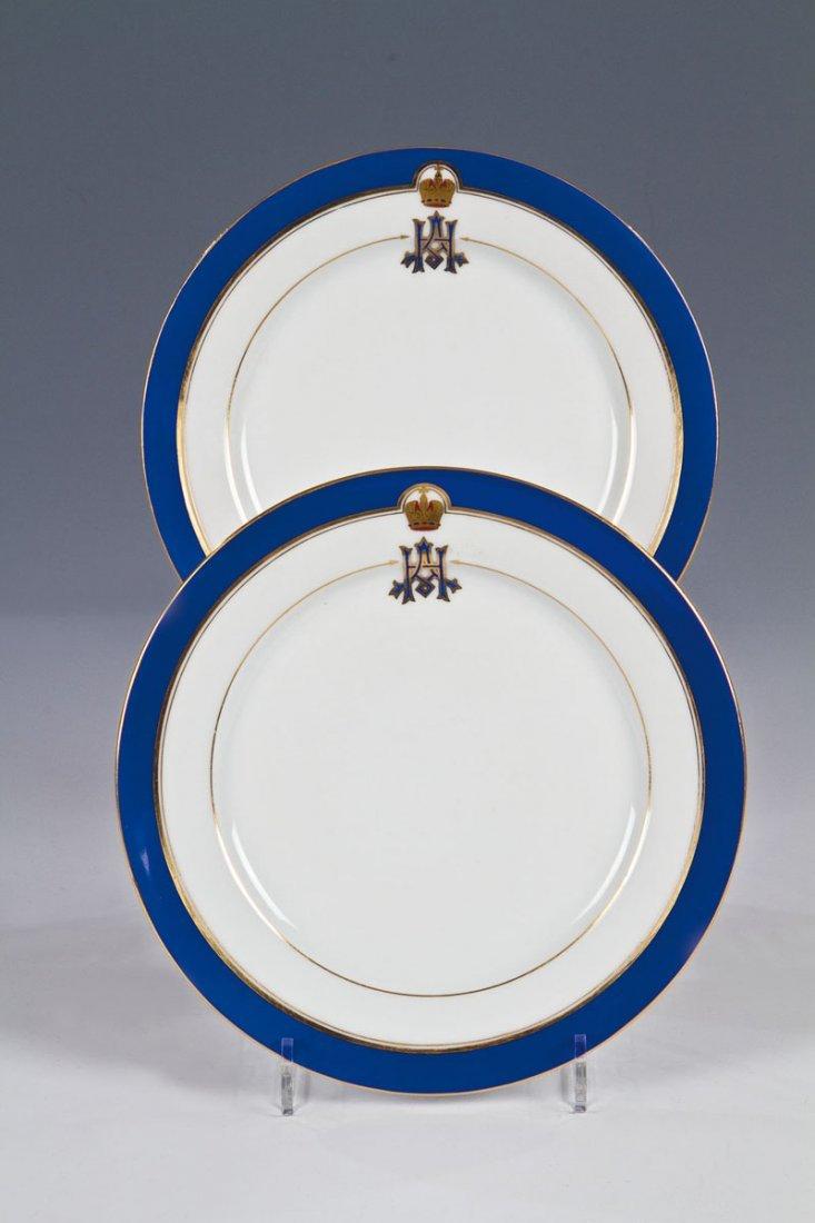 Paar Teller aus dem Service für Zarewitsch Alexander Ni