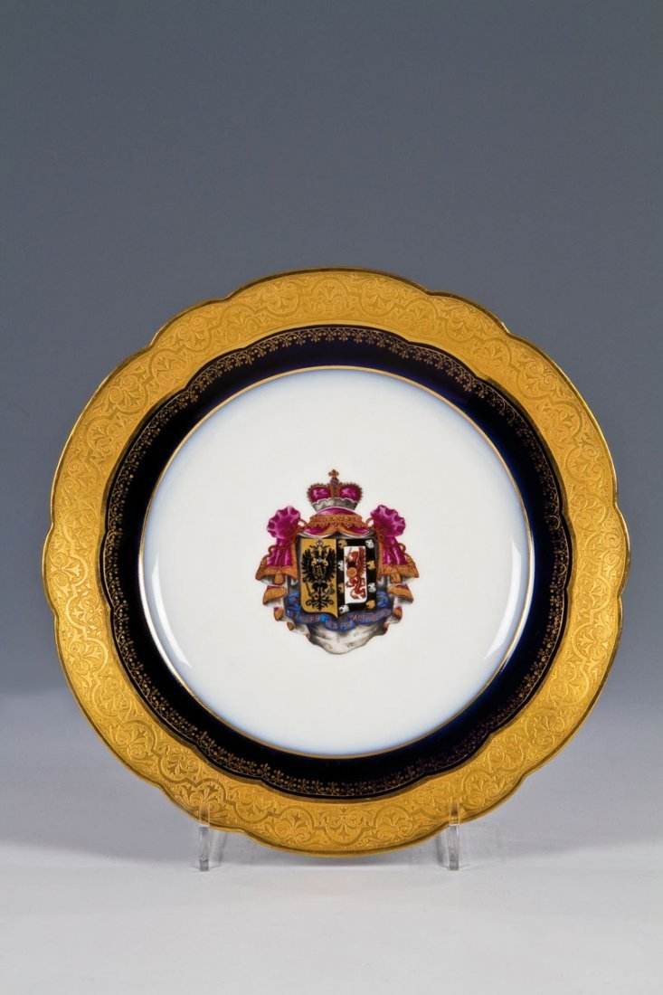 Wappenteller aus dem Hochzeitsservice von Alexander II.