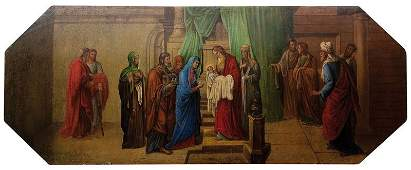 Groe Ikone Darbringung Christi im Tempel