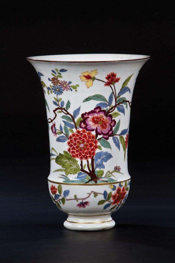 Seltene und bedeutende Augustus Rex - Vase mit indianis