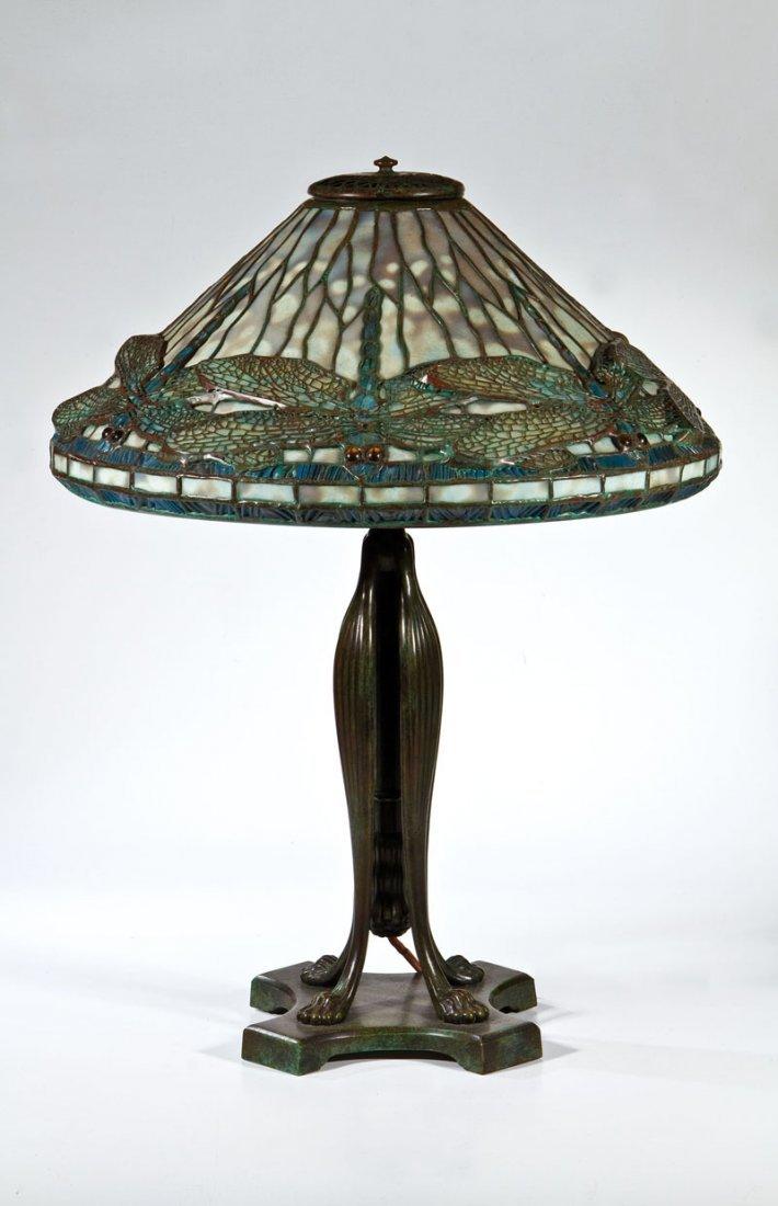 Bedeutende Tischlampe mit Libellen ''Dragonfly''