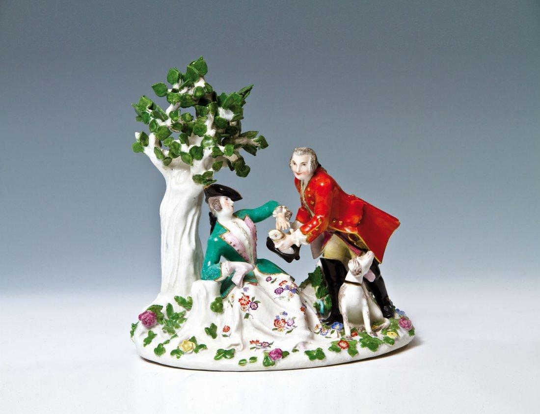 August der Starke und Gräfin Cosel an einem Baum