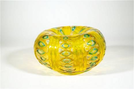 Bedeutende kürbisförmige Vase ''Transennati''