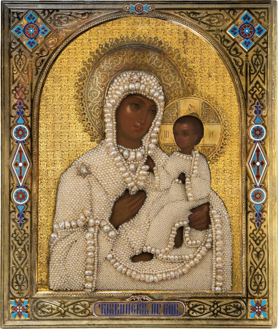 Bedeutende Ikone: Gottesmutter Tichwinskaja mit