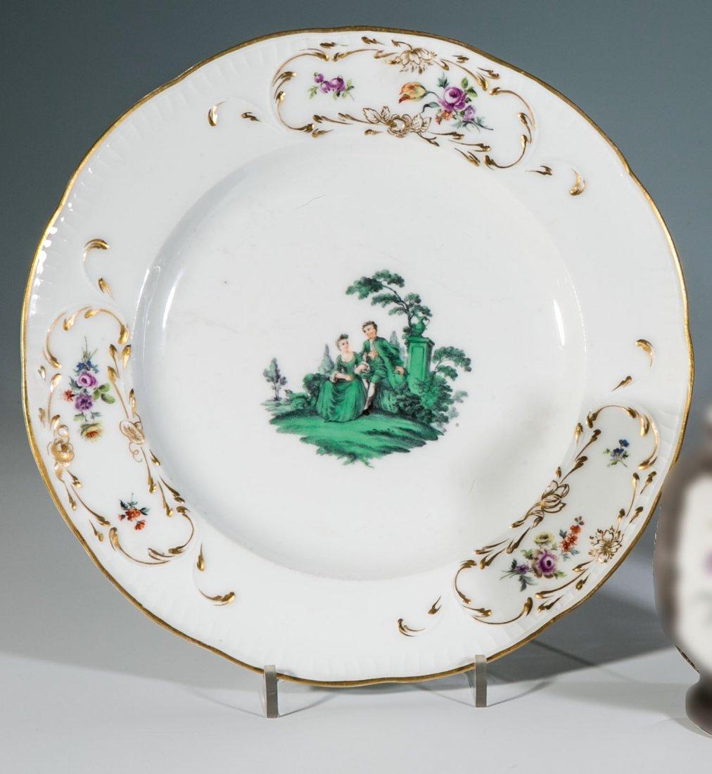 Teller mit Watteau - Malerei