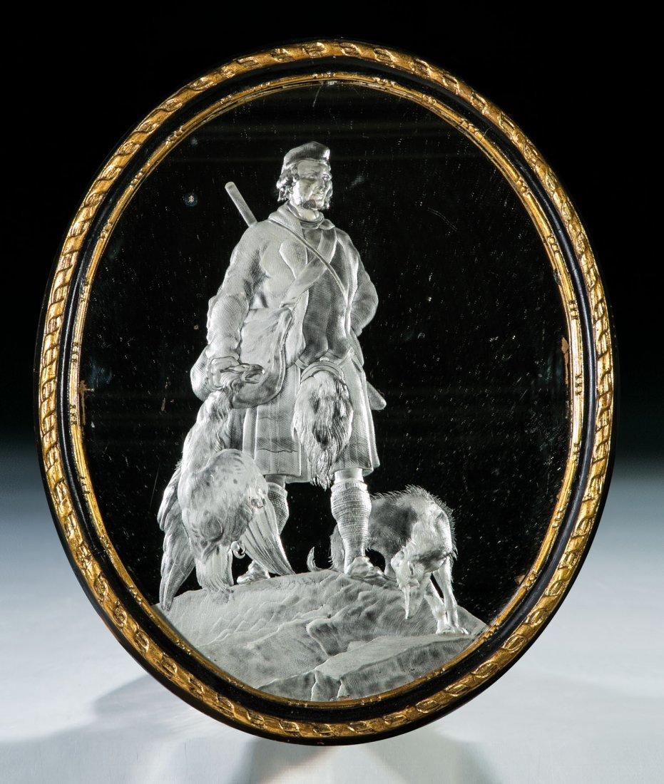 Seltener Spiegel mit Schotten (Highlander) nach
