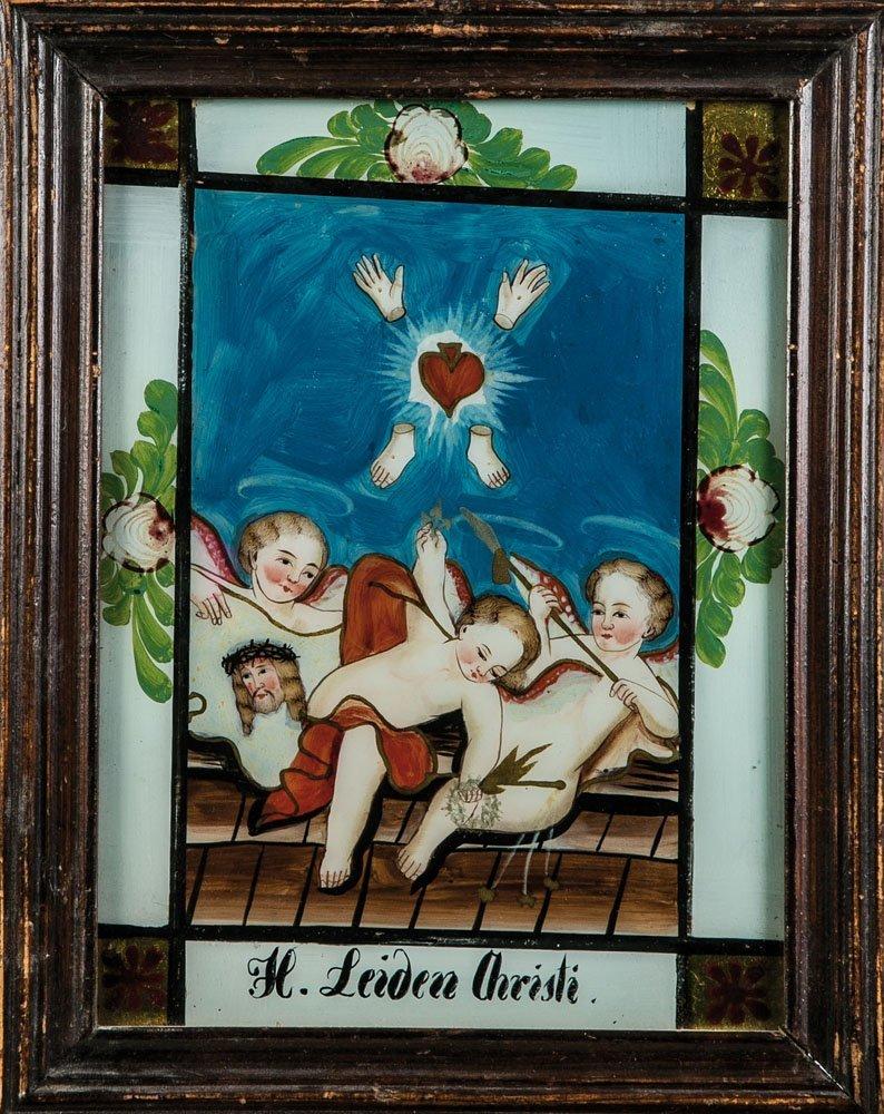 Hinterglasbild ''H. Leiden Christi''