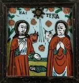 Hinterglasbild mit Geburt Jesu