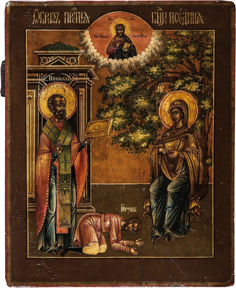 Seltene Ikone mit der Gottesmutter Besednaja ''Die