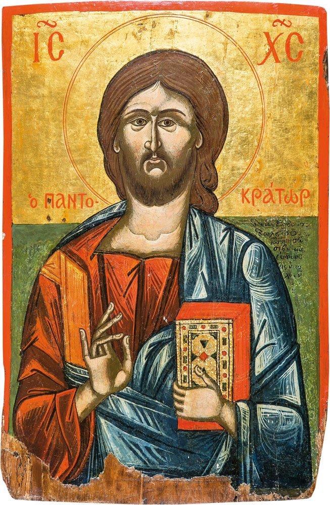 Monumentale Ikone mit dem Christus Pantokrator