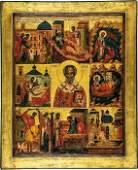 Große Vitaikone des Nikolaus von Myra