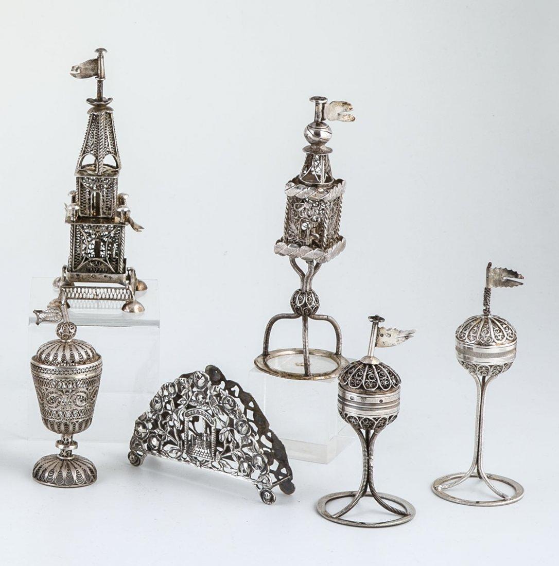 Sechs Teile Judaika Silber