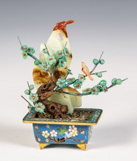 Blütenzweig In Cloisonné-email Vase