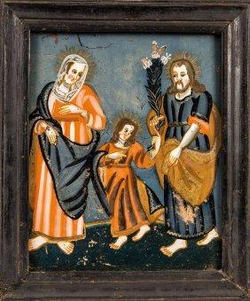Hinterglasbild Mit Der Hl. Familie (heiliger Wandel)