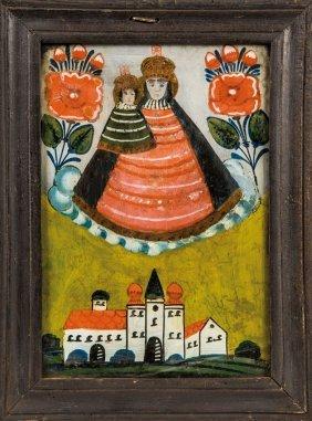 Hinterglasbild Mit Dem Gnadenbild Maria Zell